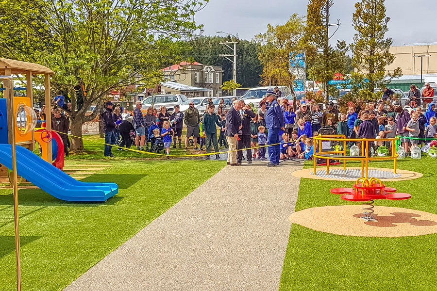 The grand opening of Greater Green Island Playground